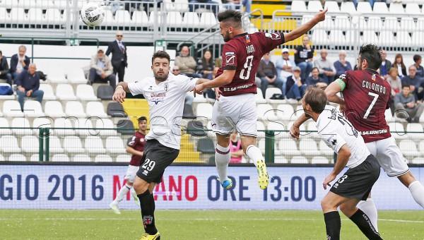 Pro Vercelli - Salernitana campionato serie B 2015-2016